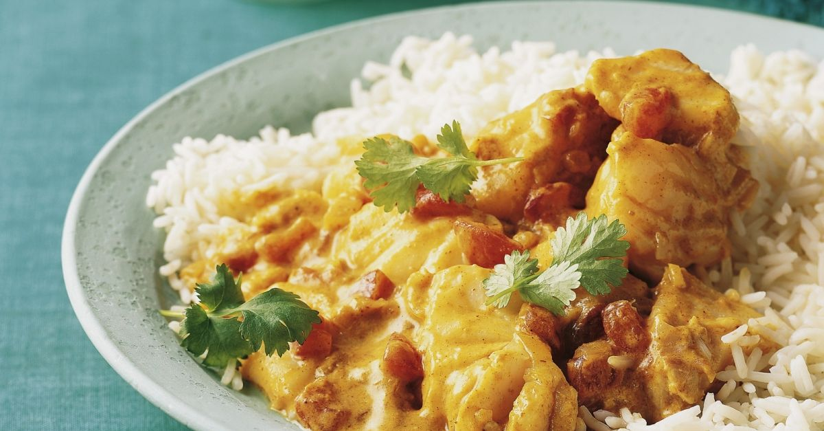 Fish Curry With Coconut Milk And Basmati Rice Recipe Eatsmarter