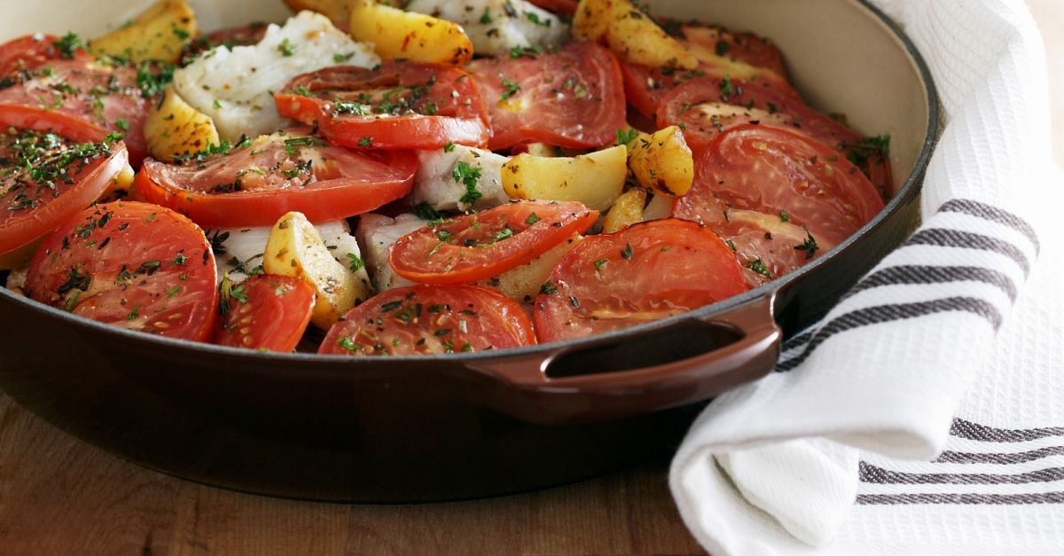 Fish stew with tomatoes and potatoes recipe eat smarter usa for Fish stew with potatoes