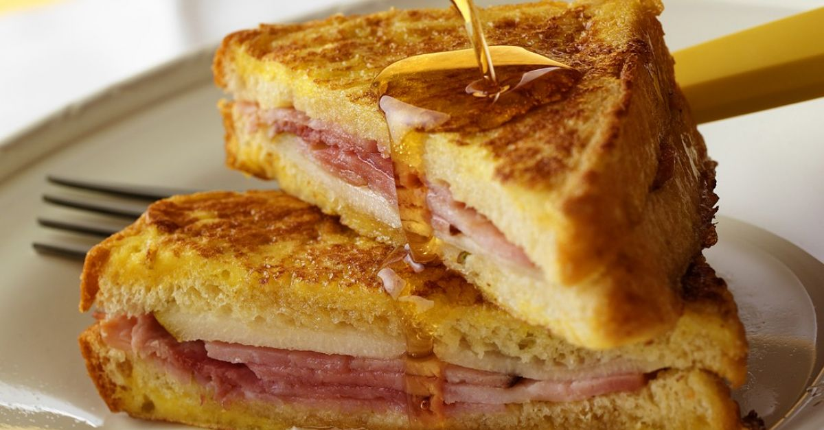 French Toastie With Ham And Cheese Filling Recipe Eat