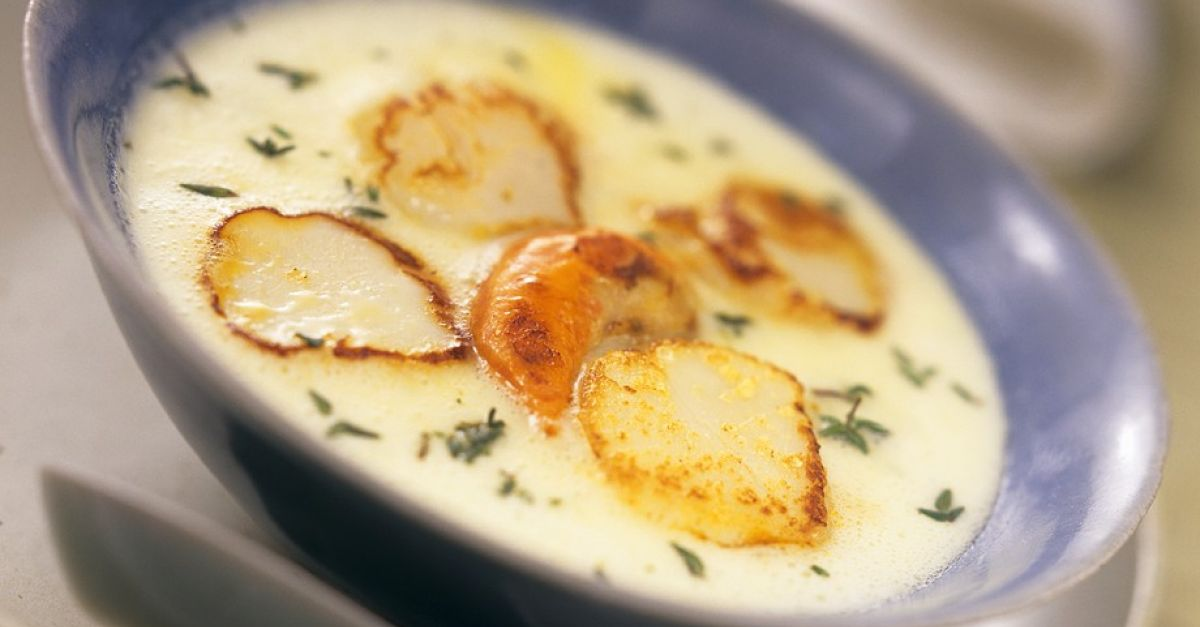 Jerusalem Artichoke Soup With Scallops Recipe Eat Smarter Usa