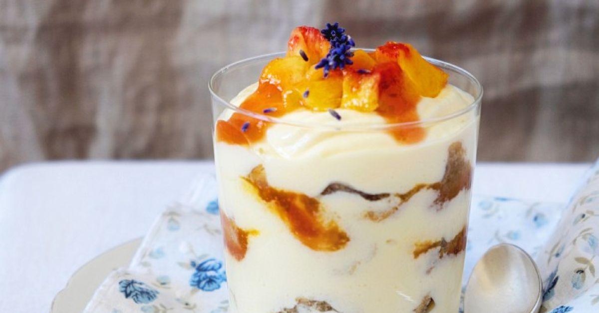 peach layered dessert recipe eatsmarter. Black Bedroom Furniture Sets. Home Design Ideas