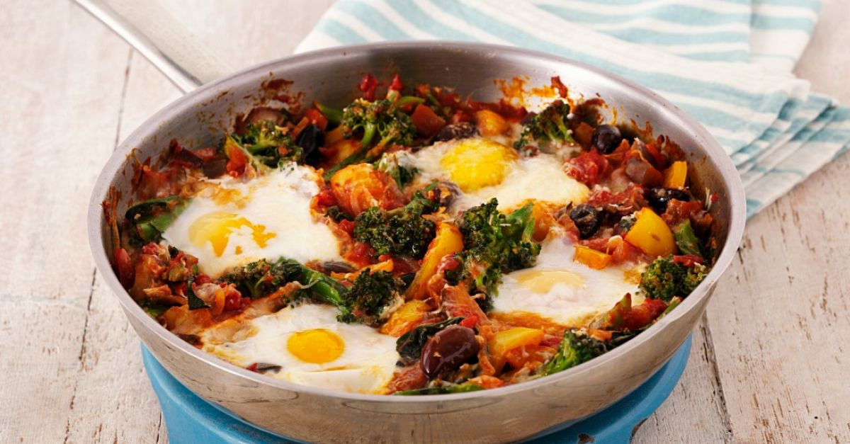 Baked Vegetables With Eggs Recipe Eat Smarter Usa
