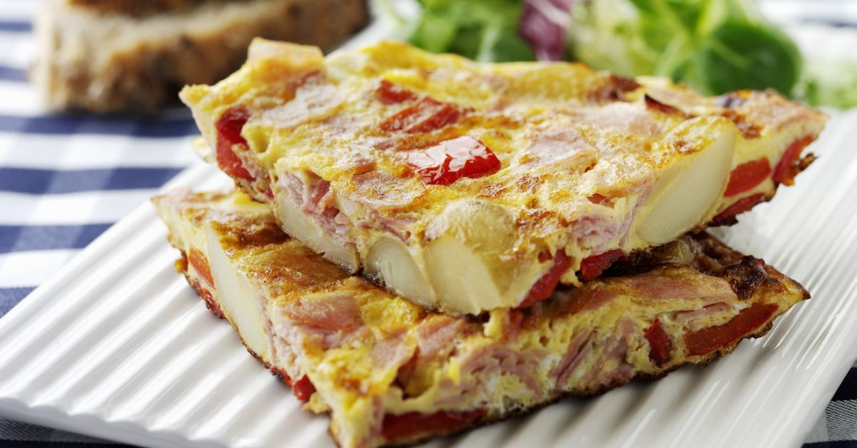 Spanish Tortilla with Ham and Peppers recipe | Eat Smarter USA