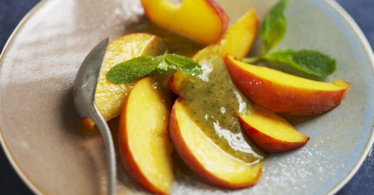 Stone Fruit with Mint Syrup recipe | Eat Smarter USA