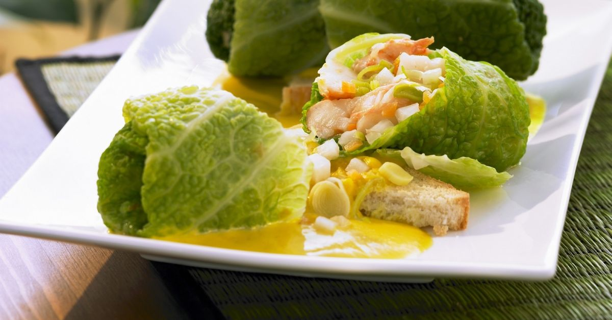 Stuffed Savoy Cabbage Leaves With Shrimp Filling Recipe Eat Smarter Usa