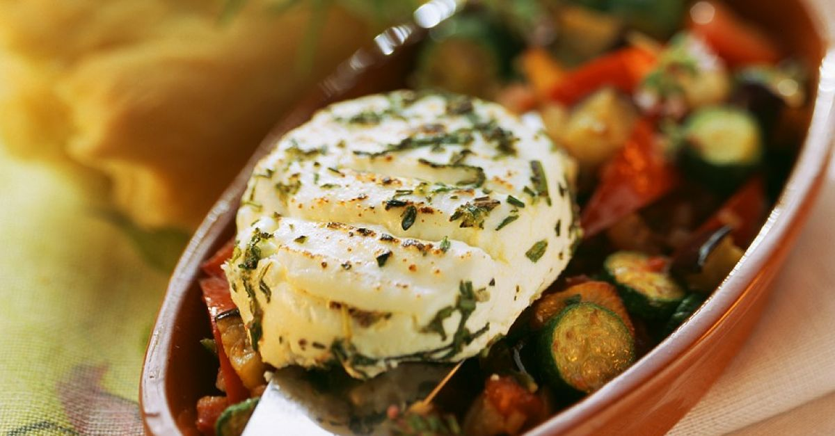Vegetables with Baked Goat Cheese recipe | Eat Smarter USA