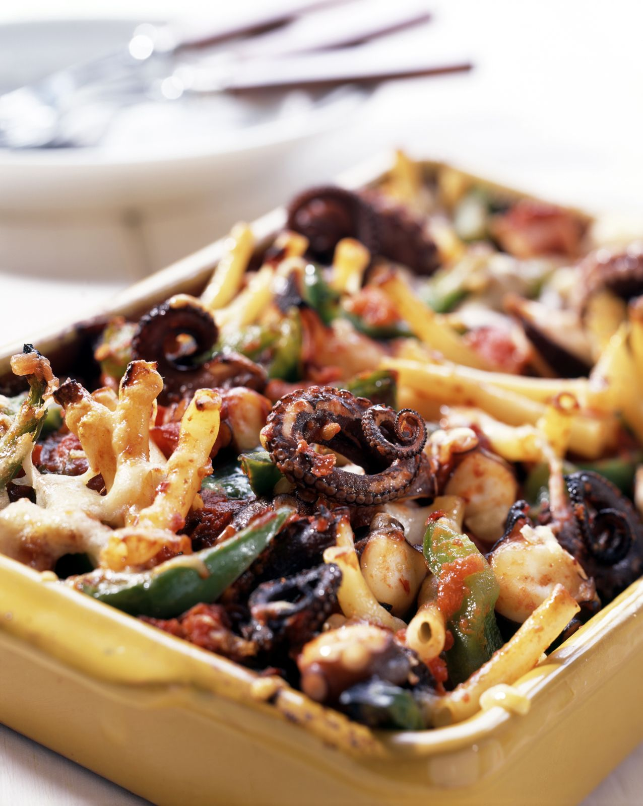 Baked Pasta with Octopus recipe