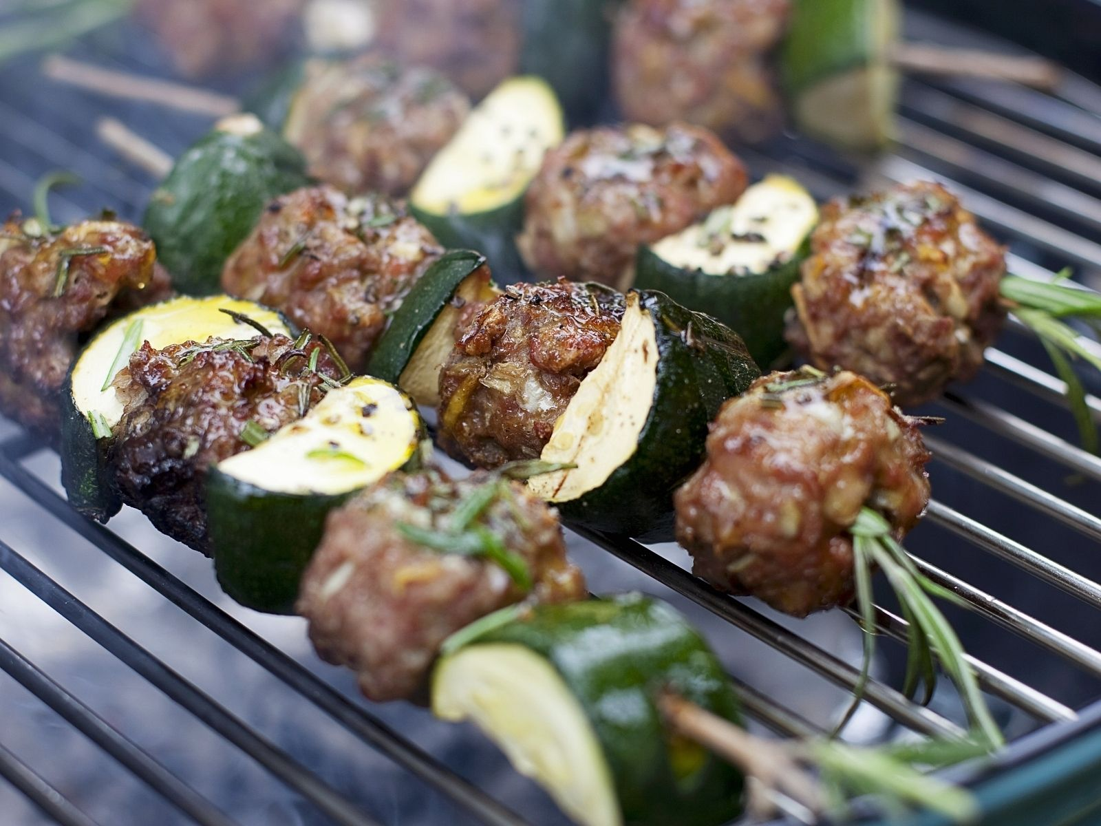 Lamb, Zucchini, and Pepper Kebabs