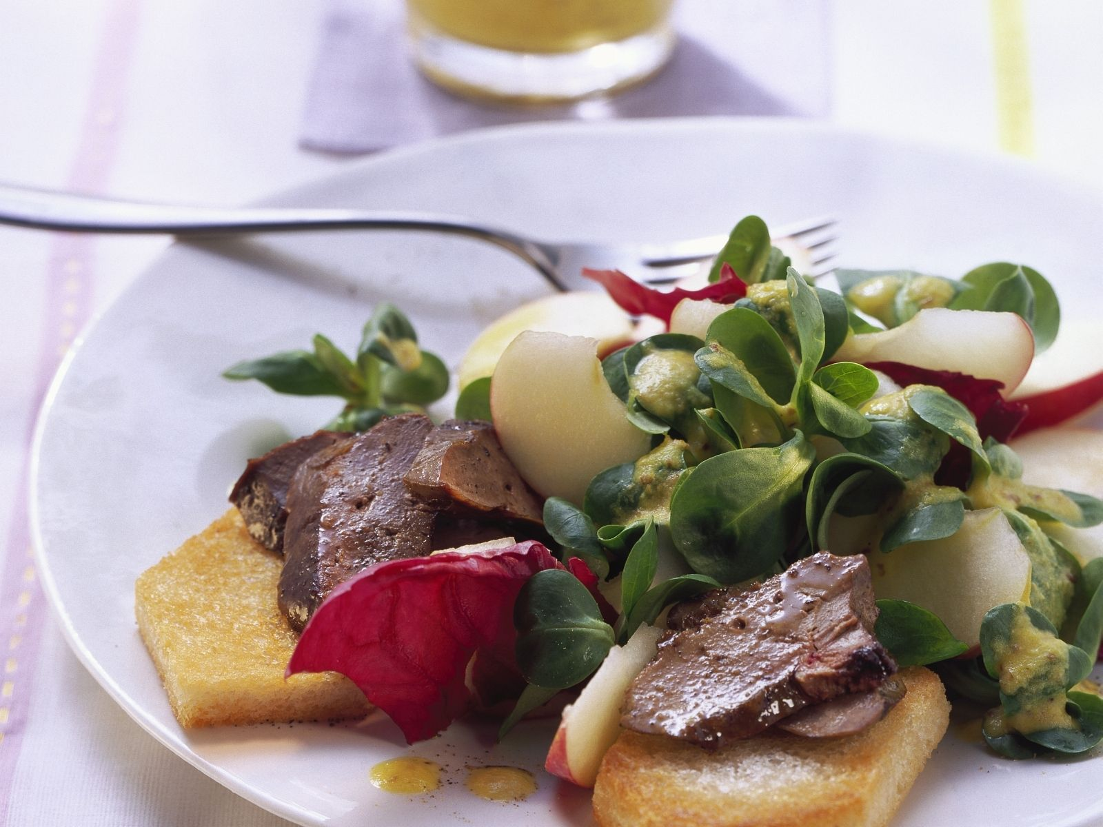 Salad with Foie Gras and Toast recipe | Eat Smarter USA