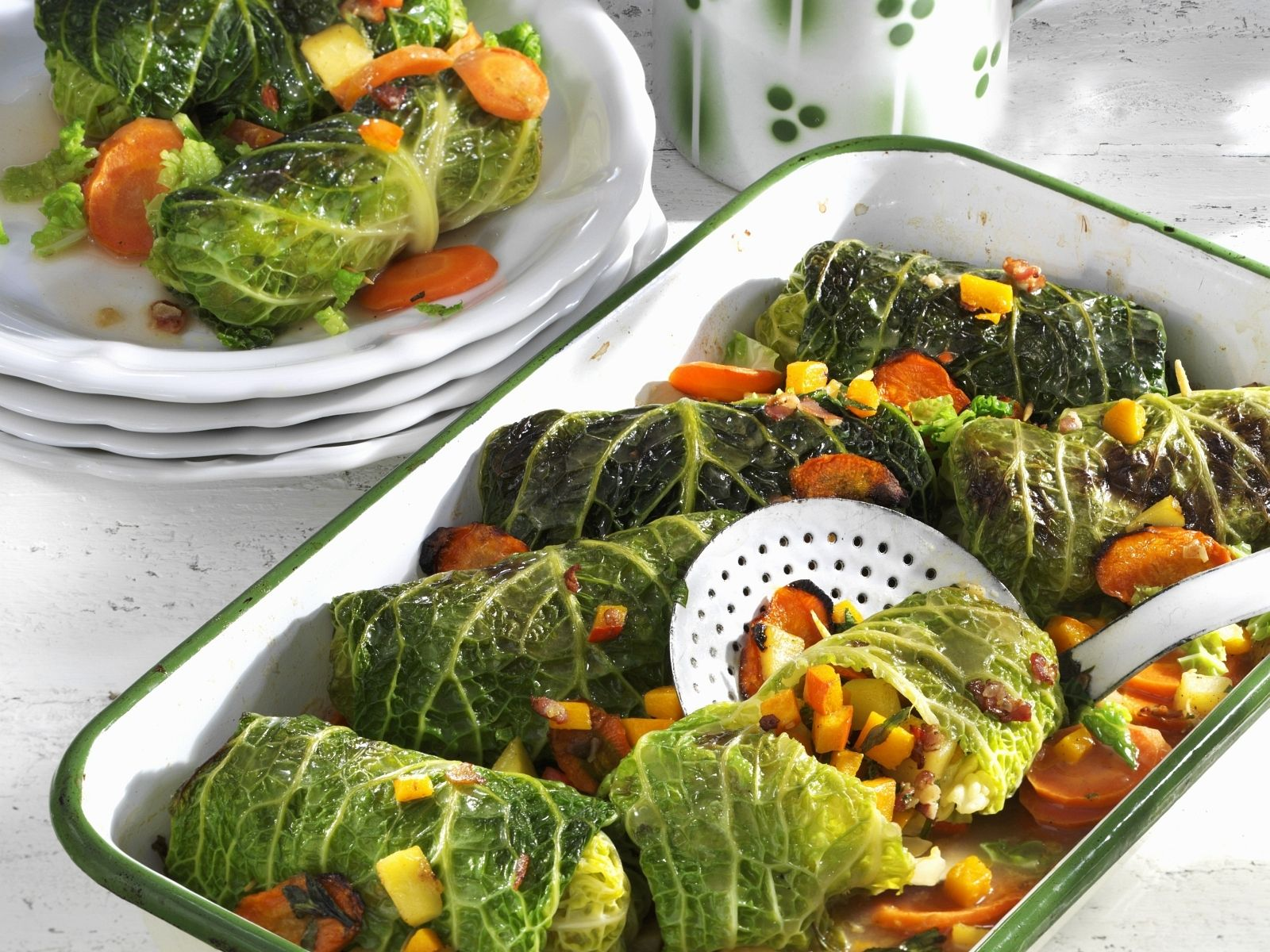Savoy Cabbage Rolls Stuffed With Pumpkin Recipe Eat Smarter Usa
