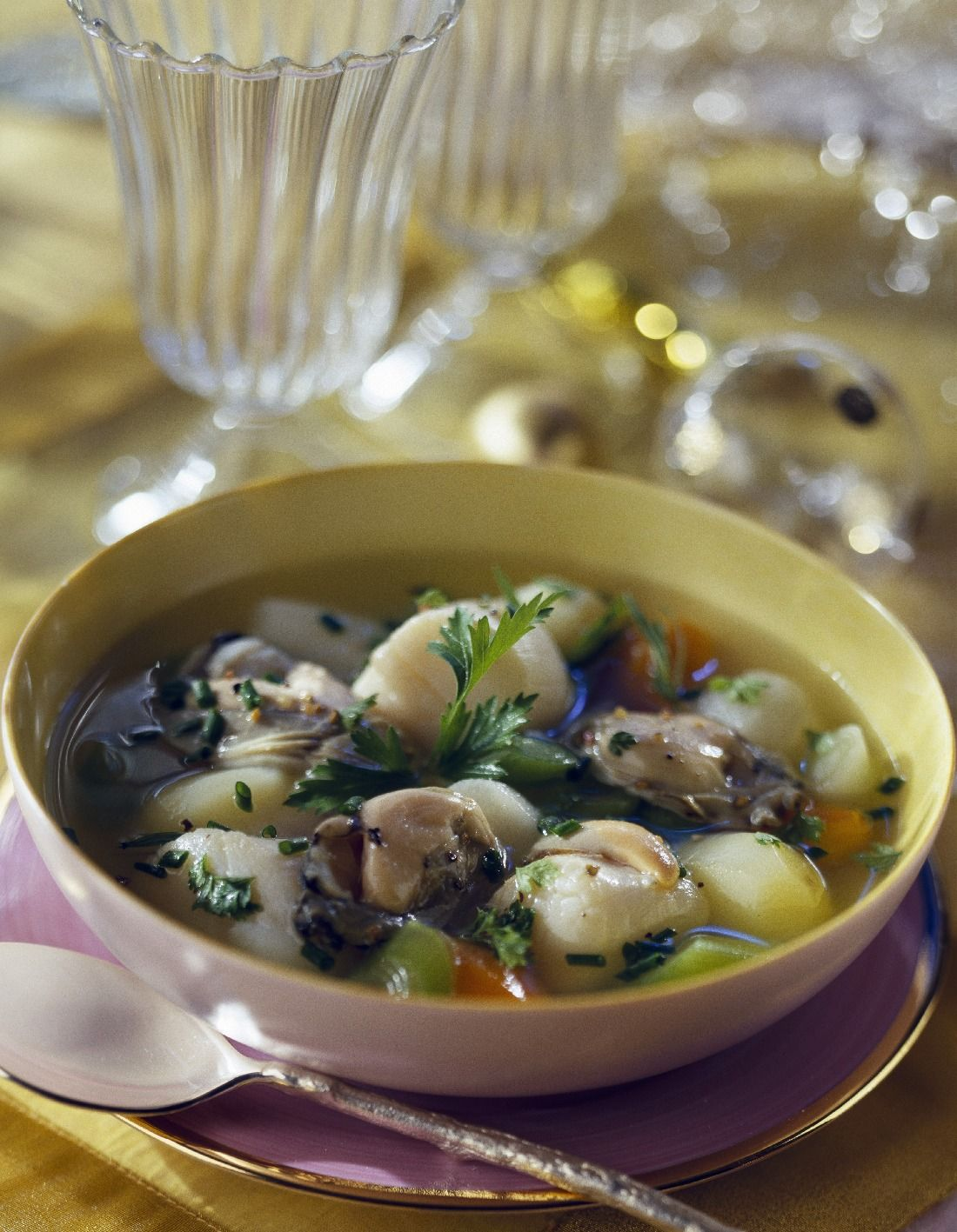 Seafood in Broth with Chardonnay recipe ...