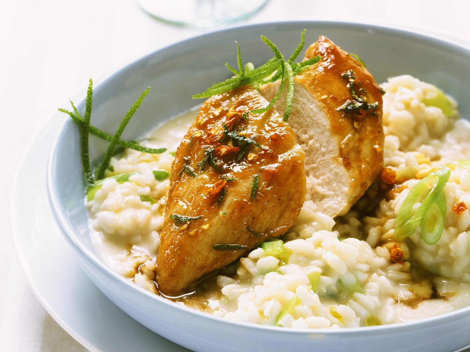 spicy chicken with risotto recipe eatsmarter