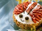 Almond and Berry Ladybug Gateau recipe