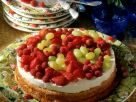 Almond Sponge Cake with Quark Mousse and Fresh Fruit recipe