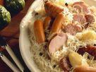 Alsatian-Style Sausage with Sauerkraut recipe