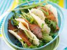 Arugula and Smoked Salmon in Crispy Parmesan Shells recipe