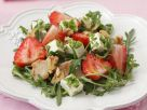 Arugula Salad with Chicken, Strawberries and Feta Cheese recipe