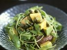 Arugula-sweet Potato Salad with Avocados and Pistachios recipe