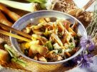 Asian Chicken Stirfry with Carrots, Leeks and Celery recipe