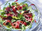 Asian Cucumber Salad with Steak Strips recipe