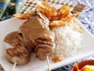 Asian-Style Chicken Saté Skewers with Peanut Sauce recipe