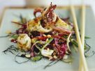 Asian Vegetable Salad with Fried Squid recipe