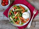 Asparagus Carrot Burrata Salad recipe