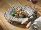 Avocado Salad with Shrimp and Mozzarella recipe