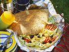 Bacon Scrambled Egg Sandwich on Herbed Flatbread recipe