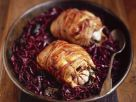 Bacon Wrapped Pheasant with Red Cabbage recipe