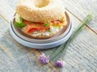 Bagel Filled with Salmon and Cream Cheese recipe