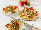 Bagel with Avocado, Strawberries and Cress recipe