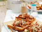 Baked Chanterelle Toasts with Cheese recipe