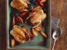 Baked Partridges with Apples and Blackberries recipe