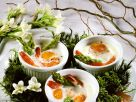 Baked Eggs with Asparagus and Shrimp recipe