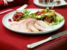 Baked Fresh Ham with Cranberry Sauce and Salad recipe