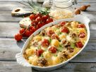 Baked Gnocchi with Meatballs recipe