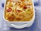 Baked Pasta with White Cabbage and Ham recipe