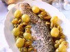 Baked Pike with Sautéed Grapes recipe