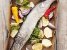 Baked Pike with Vegetables and Lemon recipe
