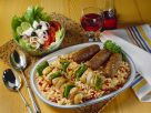 Balkan Plate of Cevapcici and Grilled Skewers recipe
