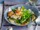 Barley Risotto with Scallops and Orange Sauce recipe