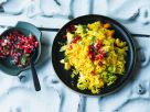 Basmati Rice with Turmeric and Pomegranate recipe