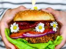 BBQ Black Bean Burger with Pickled Beets recipe