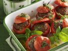 Beef and Basil Stuffed Tomatoes recipe