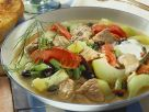 Beef Soup with Tomatoes and Cucumbers recipe