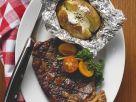 Beef Steak with Baked Potato recipe