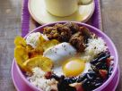 Beef with Black Beans, Fried Plantains and Rice recipe