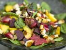 Beet Salad with Nectarines and Halloumi Cheese recipe