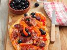 Bell Pepper and Chorizo Tarte recipe